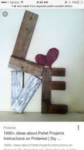 Rustic LOVE Reclaimed Wood Valentine pallet heart home decor. via Etsy