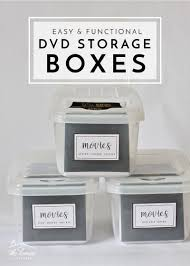 How To Label Dvds Easy Functional Dvd Storage Boxes The Homes I Have Made