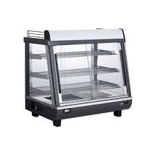 efi hcgs 2726 27 angled glass countertop heated display case