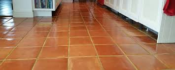 Terracotta Floor With Efflorescence In Lymington After