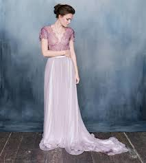 discount emily riggs purple wedding dresses with sleeves v neck a