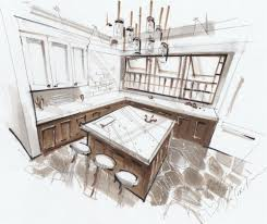 Sketchbook Pro Interior Design Sketch Of A Kitchen Room In 3 Point Perspective 4 Video