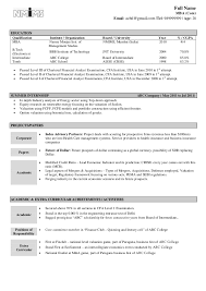 Resume Freshers Format 8 It Fresher In Word Techtrontechnologies Com