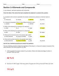 Law Of Definite Proportions Multiple Worksheet Doc J3ptipgq ~ Koogra