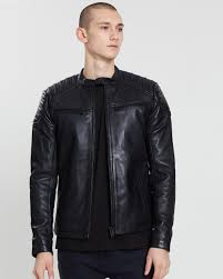 new hero racer leather jacket by superdry the iconic australia