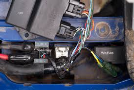 attention coy need a yamaha atv specialist no harley according to the parts manual and scematic there is only a starter relay and a relay assembly plus the main fuse box and the cdi