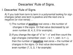 Descartes Rule Of Signs Ppt Download