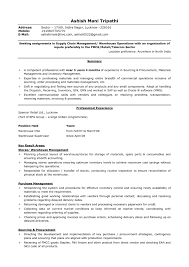 Sample Resume Of Logistics Supply Chain Manager Save Magnificent