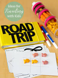 ideas for traveling with kids including a diy 4x6 activity book with printables goldfishcrowd