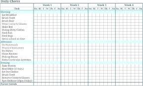 Chore Chart For Kids List Template Preschool Multi Child Printable