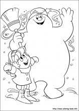 Small Picture Frosty the snowman coloring pages on Coloring Bookinfo