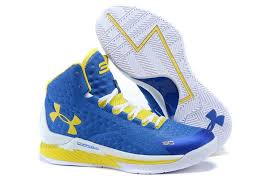 under armour shoes blue and yellow. men\u0027s under armour stephen curry one home mid basketball shoes blue/white/ yellow blue and n