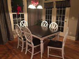 home pretty painted oak dining table and chairs 4 6751 pretty painted oak dining table