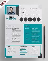 Free Creative Resume Template Psd Psdfreebiescom