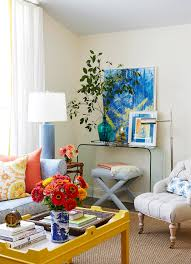Perfect home decor ideas with colorful variation Living Room The Right Combo Yellow Accent Table And Colorful Living Decor Better Homes And Gardens 25 Cheery Ways To Use Yellow In Your Decor