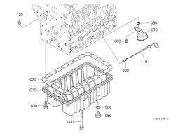 parts for kubota l48 tractor loader backhoes kubota 10185969 l48 engine oil pan