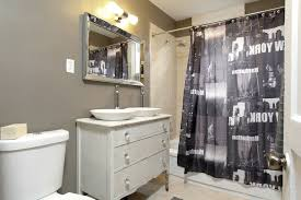 toronto corner sink vanity with novelty shower curtains bathroom eclectic and two sinks double sconce