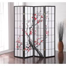 japanese 4panel screen room divider plum blossom japanese screen room divider r2 japanese