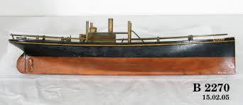 """Ship model, steam launch, S.S. """" Lilley"""". - MAAS Collection"""