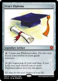 urza s diploma by dragongirl mtg cardsmith urza s diploma