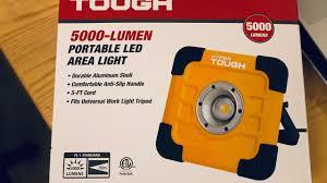 Hyper Tough Grow Light Hyper Tough 5000 Lumen Portable Area Led Light Youtube