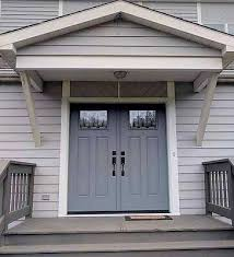 fiberglass entry door with decorative glass panels