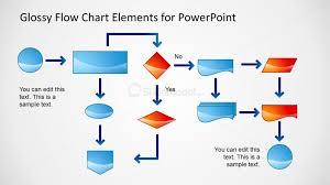 Flow Chart Styles Flow Chart Powerpoint Slide Glossy Style Slidemodel