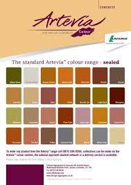 Artevia Colour Chart Lafarge Cement