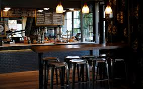 coffee bar. Above: The Henry Coffee Bar