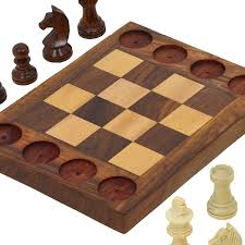Handmade Wooden Board Games Amazon Handmade Wooden Beginners Chess Set Cross Between 63