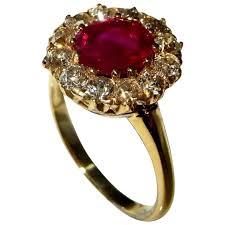 no heat ruby ring antique ruby diamond ring ruby wedding anniversary ring victorian old cut ruby