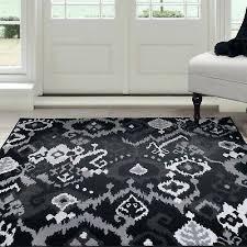 ikat area rug lavish home area rug black gray 5 x foot carpet flooring diamond ikat ikat area rug