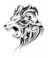 Vektorová Grafika Lví Hlava Tribal Tetování 197421014 Fotobanka