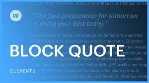 Block Quotes Web Design Tutorial