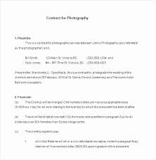 Wedding Photography Contract Template Word Inspirational Photography