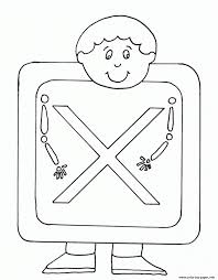 These printable coloring pages are also good for them not to be bored and to be artistic. Upprcase X Ray Alphabet Se25b Coloring Pages Printable