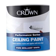 white ceiling paintCrown Pure Brilliant White  Silk Ceiling Paint  25L at Homebase
