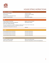 Pet Sitting Instructions Template House Sitting Instructions Templates Office Com House