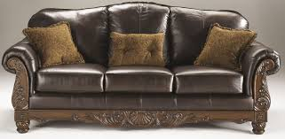 North Shore Dark Brown Sofa from Ashley