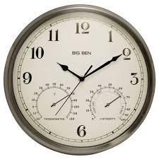 latest indoor outdoor clocks westclox nyl49832 clock with temperature and