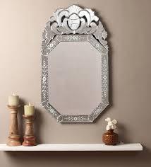 zenith crown top wall mirror by venetian design