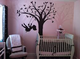 Pink Baby Bedroom Infant Girl Pink And Brown Bedding Wall Paint Including