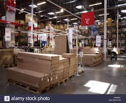 ikea warehouse furniture store interior inside Stock Photo 50138562