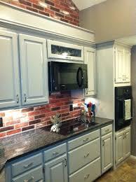 kitchen, red brick backsplash and wall, grey cabinets | Decor Inspiration |  Pinterest | Gray cabinets, Bricks and Kitchens