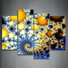 yellow and blue wall art within latest wall arts gray yellow and blue wall art