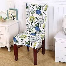 generic removable elastic stretch slipcovers short dining room chair seat cover décor 5