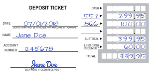 deposit slip examples how to fill out a deposit slip