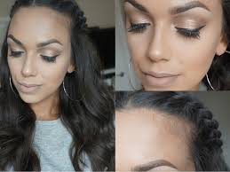 back to natural makeup and crown twist hair tutorial nowchic