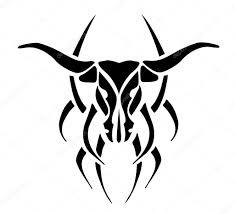 татуировки быка черный татуировка быка векторное изображение