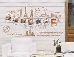 Wholesale Removable Self Adhesive Wall Stickers Global Travel Wall Removable Wall Adhesive
